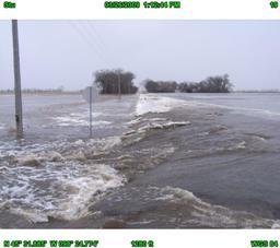 Roadway Breach. Photo courtesy of Brown County, South Dakota.