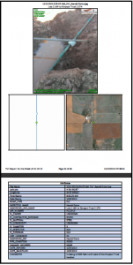 Use GeoJot+ to create .pdf or word reports and photo maps